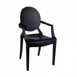 Replica Philippe Starck Louis Ghost Chair black