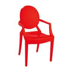 Replica Philippe Starck Louis Ghost Chair orange