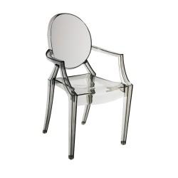 Replica Philippe Starck Louis Ghost Chair smoke 1