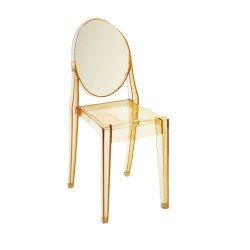 Replica Philippe Starck Victoria Ghost Chair transparent yellow