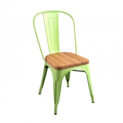 Replica Xavier Pauchard Tolix Chair wood seat green 1