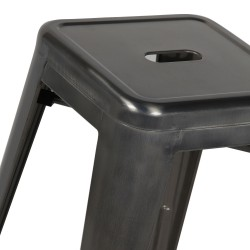 Replica Xavier Pauchard Tolix Stool - 65cm Transparent Powdercoated 2