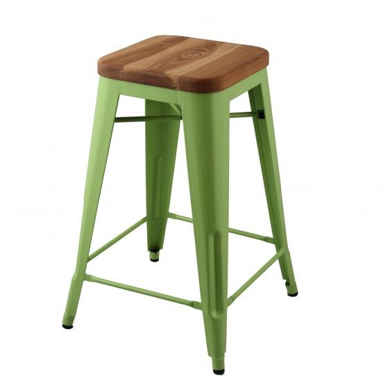 replica xavier pauchard wooden seat tolix stool