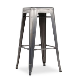 Replica Xavier Pauchard Tolix Stool - 75cm Transparent Powdercoated 1