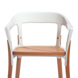 Replica Erwan and Ronan Bouroullec Steelwood Chair white and natural