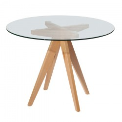 Replica Jean Prouve Inspired Dining Table glass top