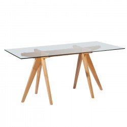 Replica Jean Prouve Rectangular Dining Table glass top