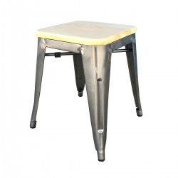 Place furniture Replica tolix wooden seat stool 45cm