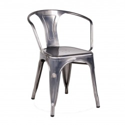 Replica Xavier Pauchard Tolix Armchair – Metallica Color gunmetal place furniture 01