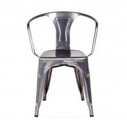 Replica Xavier Pauchard Tolix Armchair – Metallica Color gunmetal place furniture 05