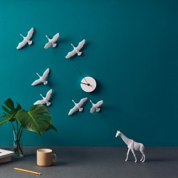 Flying Birds Clock - Migratory Birds c shape 2