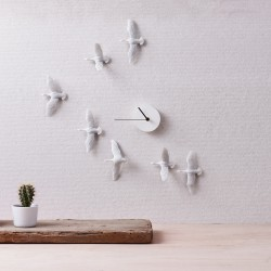 Flying Birds Clock - Migratory Birds v shape 2