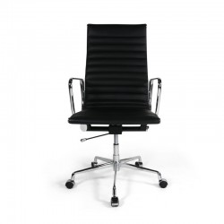 Place Furniture replica Eames Office Chair Highback Italian Leather black 4