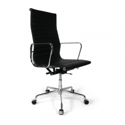 Place Furniture replica Eames Office Chair Highback Italian Leather black 6