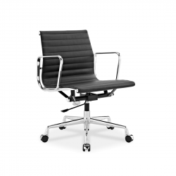 Place Furniture replica Eames Office Chair Italian Leather black 2
