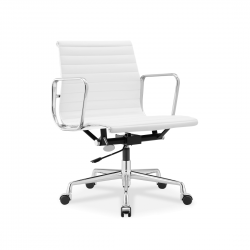 Place Furniture replica Eames Office Chair Italian Leather white 1