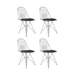 Place furniture REPLICA EAMES WIRE DINING CHAIR CHROMED LEGS set of 4