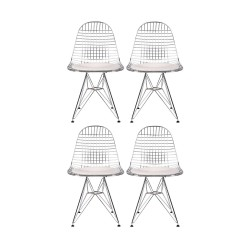 Place furniture REPLICA EAMES WIRE DINING CHAIR set of 4