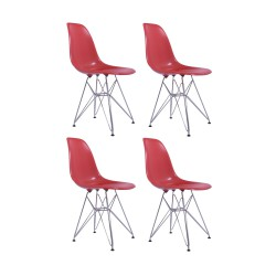 Place furniture Replica Eames DSR Dining Chair set of 4