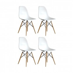 Place furniture Replica Eames DSW Eiffel Dining Chair set of 4