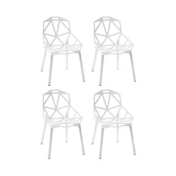 Place furniture Replica Konstantin Grcic Chair One set of 4 - white