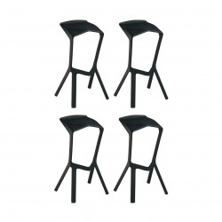 Place furniture Replica Konstantin Grcic Miura Stool set of 4 black