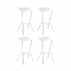 Place furniture Replica Konstantin Grcic Miura Stool set of 4 white