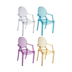 Place furniture Replica Philippe Starck Louis Ghost Chair set of 4