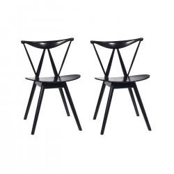 Place furniture Replica Vilhelm Wohlert Piano Chair set of 2 black