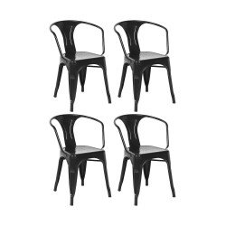 Place furniture Replica Xavier Pauchard Tolix Armchair black set of 4