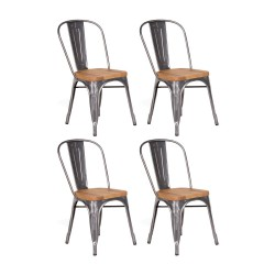 Place furniture Replica Xavier Pauchard Tolix Chair gunmetal sale set of 4