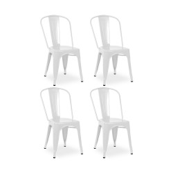 Place furniture Replica Xavier Pauchard Tolix Chair set of 4 white