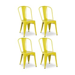 Place furniture Replica Xavier Pauchard Tolix Chair set of 4 yellow