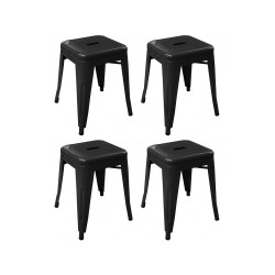 Place furniture Replica Xavier Pauchard Tolix Stool 45cm set of 4 black