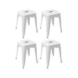 Place furniture Replica Xavier Pauchard Tolix Stool 45cm set of 4 white
