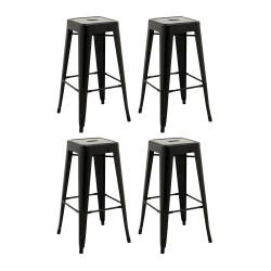Place furniture Replica Xavier Pauchard Tolix Stool 75cm  set of 4 black