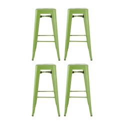 Place furniture Replica Xavier Pauchard Tolix Stool 75cm  set of 4 green