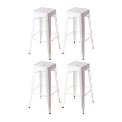 Place furniture Replica Xavier Pauchard Tolix Stool 75cm  set of 4 white