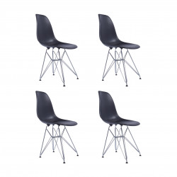 Replica Eames DSR Dining Chair black