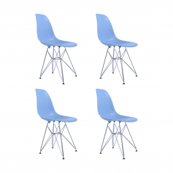 Replica Eames DSR Dining Chair blue