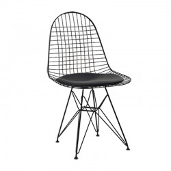 Place furniture Replica Eames Wire Chair black frame