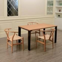 Place furniture Replica Hans Wegner Wishbone Chair natural frame natural ratten actual