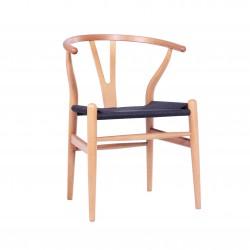 PLACE FURNITURE Replica Hans Wegner Wishbone Chair Natural wood black ratten