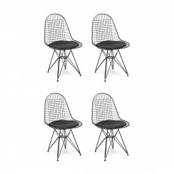 Place Furniture Replica Eames Wire Chair – whole Black set of 4