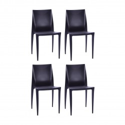 Place furniture Replica Bellini Dining Chair set of 4 black