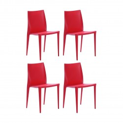 Place furniture Replica Bellini Dining Chair set of 4 red