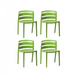 Place furniture Replica Paolo Favaretto Venezia Chair set of 4 green