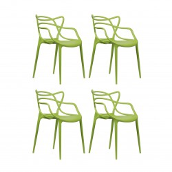 Replica Phillipe Starck Masters Chair green set of 4