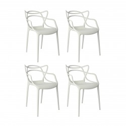 Replica Phillipe Starck Masters Chair white set of 4