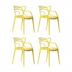 Replica Phillipe Starck Masters Chair yellow set of 4